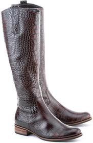 Gabor Kroko Antico - brązowy skóra Kozaki Damskie - 31.639.88
