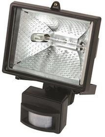 MEGA Lampa halogenowa ścienna z czujnikiem ruchu 150W Mega PR66152