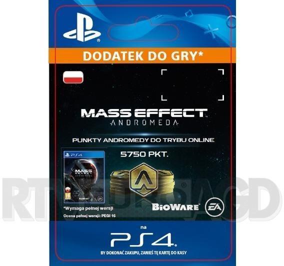 Mass Effect: Andromeda - 5750 punktów PS4 wersja cyfrowa