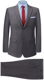 vidaXL 2-częściowy garnitur biznesowy męski szary rozmiar 46