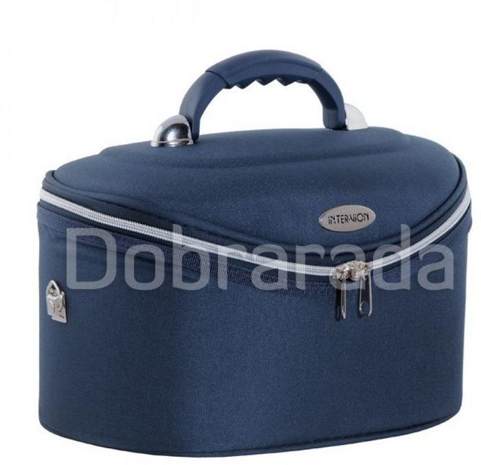 INTER VION 413567D Inter-vion kuferek kosmetyczny Duży - granatowy