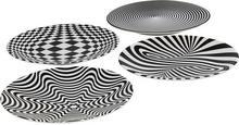 Kare design Talerz Plate Psychodelic 25cm wzór 2 okręgi) 38073_2