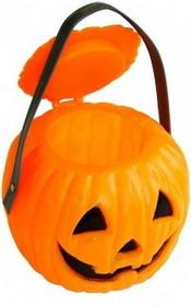 Funny Fashion Halloween Pojemnik w kształcie dyni z wieczkiem 54474