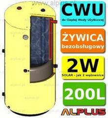 Solar Ermet 200l surowy pionowy bojler dwupłaszczowy, wymiennik zbiornik ogrzewa