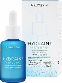 Dermedic HYDRAIN 3 Hialuro nawilżające serum do twarzy do skóry suchej i bardzo suchej 30ml