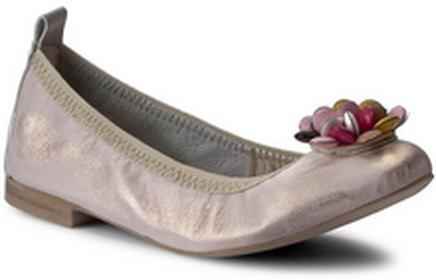 R.Polański Baleriny 864 Różowy Przecierany skóra naturalna/licowa, skóra naturalna/-nabłyszczana