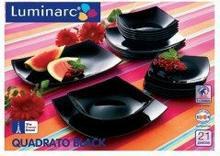 Luminarc Serwis obiadowy QUADRATO 21elem. Czarny H6782