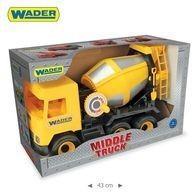 Wader Middle Truck Betoniarka żółta w kartonie