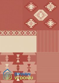 Dywan Essenza Haft czerwony 120x170 prostokąt