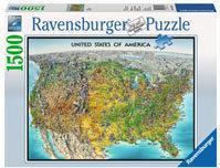 Ravensburger Mapa USA 163137