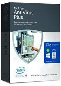 McAfeee AntiVirus Plus 2016 Unlimited Devices (1 rok) - Nowa licencja