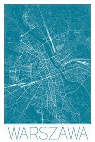 Warszawa - Niebieska mapa