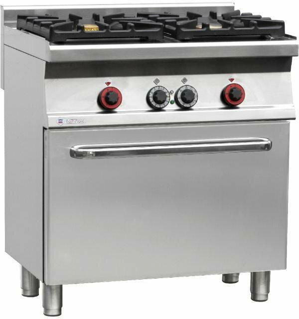 Rm Gastro Kuchnia Gazowa Wok Z Piekarnikiem Elektrycznym Cf2 68