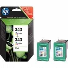 HP Hewlett Packard oryginalny atrament 343 color CB32EE 2pack