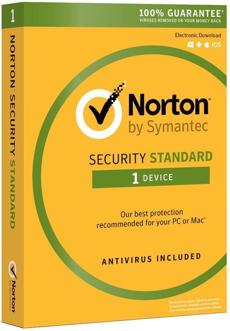 Symantec Norton Security Standard 2016 (1 stan. / 1 rok) - Nowa licencja