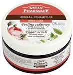 Green Pharmacy Body Care Muscat Rose & Green Tea peeling cukrowy 0% Parabens Silicones SLES SLS 300 ml