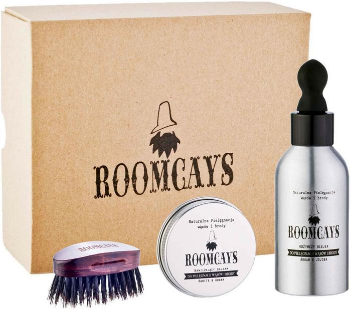 Roomcays Zestaw kosmetyków ze specjalną szczotką z włosia dzika
