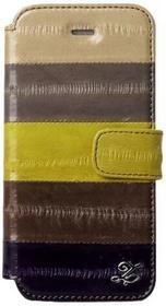 Zenus ZCI5NEMW Prestige Natural Eel Diary prawdziwej skóry węgorz futerał do Apple iPhone 5/5S brązowy