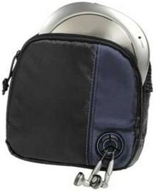 Hama CD-player-torba na Discman i 3wyjście na płytach CD (z kablem i szlufka na pasek) Czarny/niebieski 00033716
