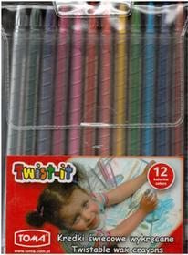 Toma Kredki świecowe wykręcane 12 kolorów