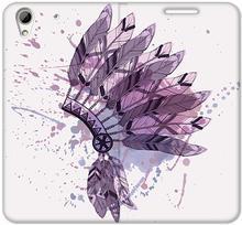 Etuo.pl Flex Book Fantastic - HTC Desire 626 - etui na telefon Flex Book Fantastic - pióropusz ETHC252FBFCFB016000
