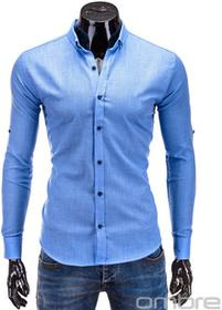 Ombre Clothing KOSZULA K280 - BŁĘKITNA