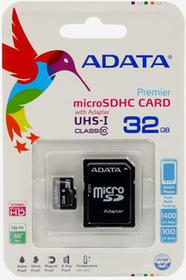 Adata Etuo.pl Fantastic Case - Karta pamięci microSDHC 32GB KPAD000MSC000032