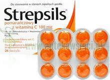Boots Healthcare Strepsils pomarańczowy z witaminą C 24 szt.