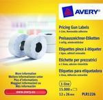 Avery Zweckform Etykiety cenowe w rolce do metkownicy jednorzędowej; usuwalne