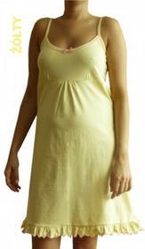 Dolce Sonno Koszula nocna ciążowa Żółta na ramiączkach