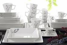 OXFORD QUARTIER BLUE NILE - Zastawa stołowa obiadowo-kawowa 42 części dla 6 osób
