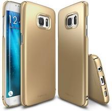 RINGKE Etui Slim Samsung Galaxy S7 Edge NA TYŁ TWORZYWO SZTUCZNE ZŁOTY