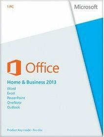 Microsoft Office 2013 Home and Business - dla użytkowników domowych i małych firm PL licencja elektroniczna