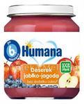 Humana 100% ORGANIC Deserek jabłko-jagoda - 125g