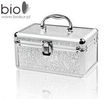 Neonail kuferek kosmetyczny MOTYLEK, srebrny -