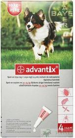 Bayer ADVANTIX Spot-On L Pies 10-25kg 4szt. *ODBIÓR WŁASNY*