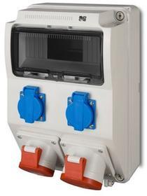 Elektro-Plast Rozdzielnica siłowa RS natynkowa 9-modułowa 2x230V 1x16A/5P 1x32A/5P 6223-00