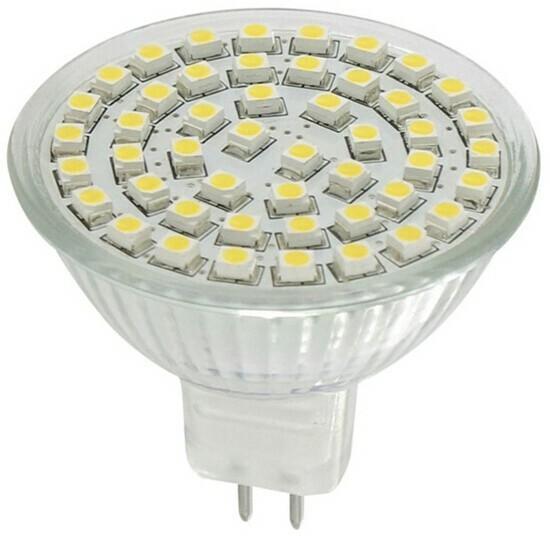 Whitenergy Żarówka LED 2,7W GU5.3 biała zimna 48SMD 3528 12V 03992