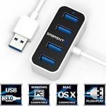 Opinie o Sabrent 4 Port Mini tragbare USB 3.0 Hub [0.60 meter-Kabel] den weltweit kleinsten USB-3.0-Hub (HB-MNBW)