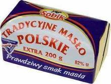 SOBIK masło POLSKIE EXTRA TRADYCYJNE 200G
