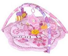 Sun Baby Mata edukacyjna dla dzieci Růžová květinka Różowa
