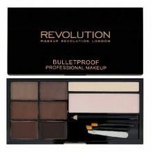 Makeup Revolution Ultra Brow Zestaw do stylizacji brwi Medium to Dark 1op Z oficjalnej polskiej dystrybucji