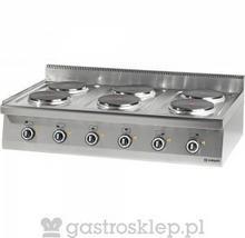 Stalgast Kuchnia nastawna elektryczna 6 polowa 1200x700 15,6 kW | 970700