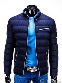 Ombre Clothing KURTKA C209 - GRANATOWA