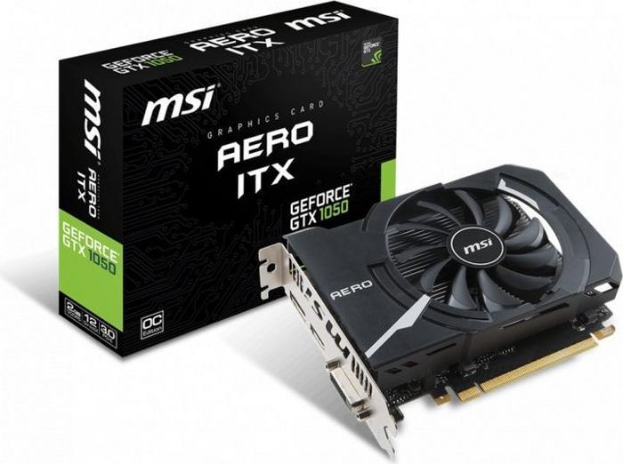 MSI GeForce GTX 1050 Aero ITX 2G OC