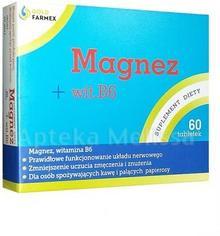 Goldfarmex Magnez + wit. B6 forte 60 szt.