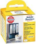 Avery Zweckform Etykiety do drukarek etykiet Zweckform AS0722470 190 x 38 mm Etykiety do folderów biały