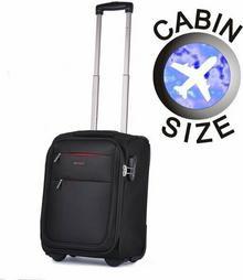 Puccini Mała walizka czarna EM-50307 D