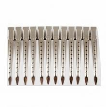 Metalowe Klipsy do włosówy do włosów fryzjerskie Średnie 11,4 cm 12 szt. 8624