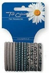 Top Choice Akcesoria do włosów GUMKI DO WŁOSÓW ZGRZEWANE SZARE 12SZT 21411